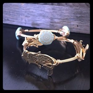 Gold Wire Wrapped Bracelets